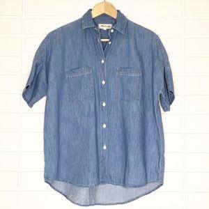 Madewell | Blue Denim Chambray Button-Down Shirt